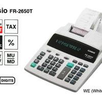 (Dijamin) Sale CASIO FR-2650T-WE - Kalkulator Printing Limited