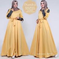 BARU [Diandra mustard GZ] gamis wanita baloteli mustard