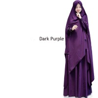 BARU [Gundam dark purple GZ] gamis wanita wolly crepe ungu tua