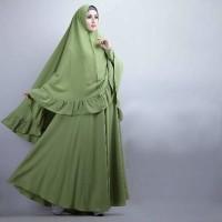 BARU [Syari Soraya Alpukat Cl] baju muslim wanita jersey hijau