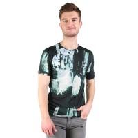 Elfs Kaos Pria T-shirt Spandex Oneck Fashion Beggar Abstrak