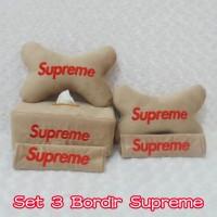 Bantal Mobil Set 3 Bordir Supreme