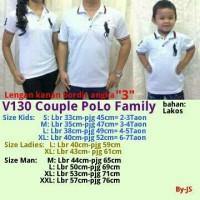 Couple Pasangan Baju Kaos Polo Family White Putih Keluarga Atasan