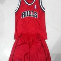 Baju Basket Kids Red Bulls