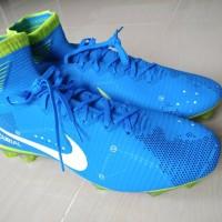 Sepatu Bola Nike Mercurial Superfly V Blue Biru Neymar - Size 45