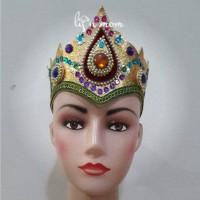 aksesoris karnaval iket kepala set plasmen baju adat anak