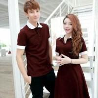 BARU [Cp Star Maroon SW] baju couple spandex maroon