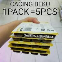(GOJEK) CACING BEKU 5PCS PIONEER / MAKANAN FROZEN BLOODWORM