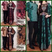 (NEW) Baju Couple Pesta Alvia ( Sepasang Dress Kaftan + Kemeja Cowok )