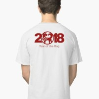 Atasan/Kaos/T-Shirt/Chinese Year 2018 of the Dog (Tahun anjing Bumi)