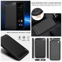 Asus Zenfone Live 5.0 ZB501KL - PREMIUM Carbon Fiber Brushed Soft Case