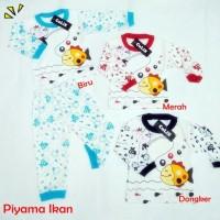 Piyama Anak Ikan 0-1thn Setelan Anak  Baju Anak Murah Unisex