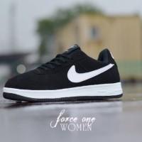 Sepatu Wanita Nike Air Force 1 Hitam List Putih MURAH! BUKAN nmd yeezy