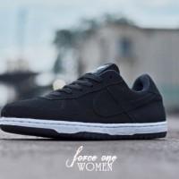 Sepatu Wanita Nike Air Force 1 Hitam List Hitam MURAH! BUKAN nmd yeezy