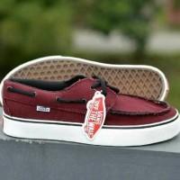 sepatu sneakers Vans Zapato merah maroon
