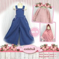 overall/jumpsuit anak muslim 3-7t