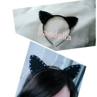 bando telinga kucing hitam / black cat ears