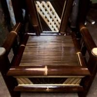 kursi bambu hitam single