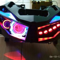 Projie led vario 150/125 headlamp vario led custom eagle eye