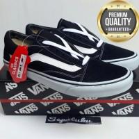 Sepatu Vans Old School Black White - Premium Quality