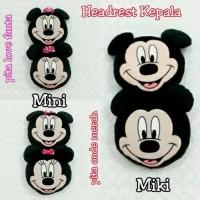 Bantal Mobil Headrest Kepala Mickey / Minnie