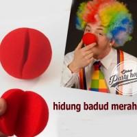 hidung badut merah / red nose / clown party / perlengkapan badut