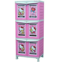 lemari plastik napolly bcbc 163 hkbf pink