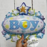 balon baby boy oval / balon baby shower / balon dekor / balon foil