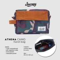 Tas Kecil Pouch Hand Bag Multifungsi Kosmetik HP - Journey Athena Camo