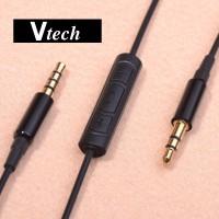 V-TECH 3.5mm Jack Plug Audio AUX Cable Cord Mic Controlker 120cm BLACK