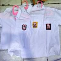 (Size 15, 16) Baju Seragam Sekolah SD SMP SMA Lengan Pendek Mampank