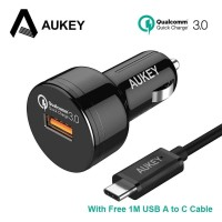 Aukey CC-T12 Quick Car Charger 3.0 (with Type-C Cable)