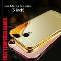 MEIZU M2 MINI 5 IN Back Case MIRROR Aluminium BUMPER + TEMPERED GLASS