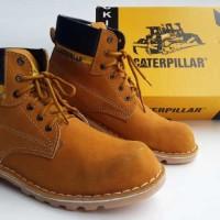 Jual Sepatu Caterpillar Safety Boots Kulit ASLI Tan BUKAN ori docmart