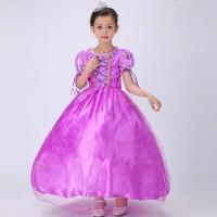 Baju Dress Kostum Princess RAPUNZEL ANak