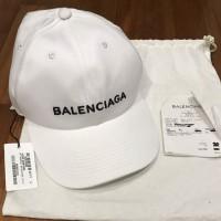 Topi Unisex Balenciaga Cap White Original