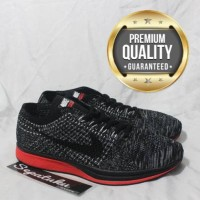 Sepatu Nike Flyknit Racer Demon Concept Black Red - Premium Quality