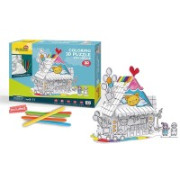 CUBICFUN Coloring Puzzle Toy House
