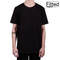 Snapback T-Shirt FITTED polos Dewasa Midnight Black