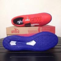 (Dijamin) Sepatu Futsal Specs Apache IN Red Poppy 400567 Original BNIB