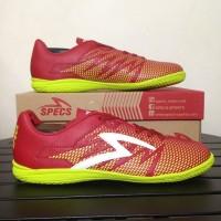 limited Sepatu Futsal Specs Apache IN Dark Red 400656 Original BNIB