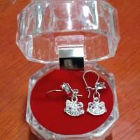 Anting Perak Silver Asli 925 Anak /Balita Lapis Emas Putih