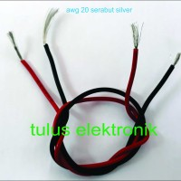kabel awg 20 serabut silver