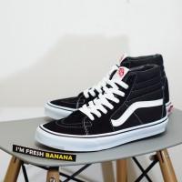 Sepatu Vans Sk8 Hi Black White HIgh DT Premium