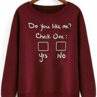checklist - baju murah atasan kaos cewek wanita remaja lengan panjang