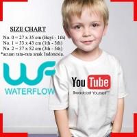 Kaos T-shirt Anak Youtube You tube Youtubers you tubers Putih wfcloth
