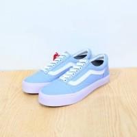Sepatu Vans Old Skool Biru pastel