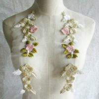 SEPASANG Patch/patch bordir/bordir sulam/bordir baju/lace/renda