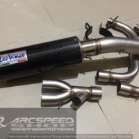 Knalpot Leovince GP Corsa + Header Arcspeed V2 R25/ MT25