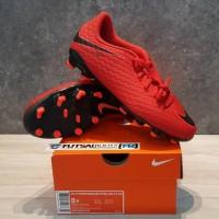 Sepatu Bola Anak Nike Kids Hypervenom X Phelon FG JR - Red
